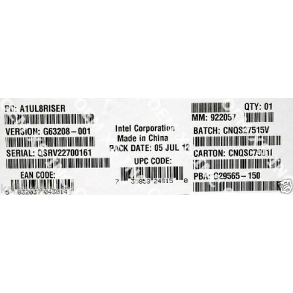 Intel A1UL8RISER 1U x8 Riser Board New Bulk Packaging