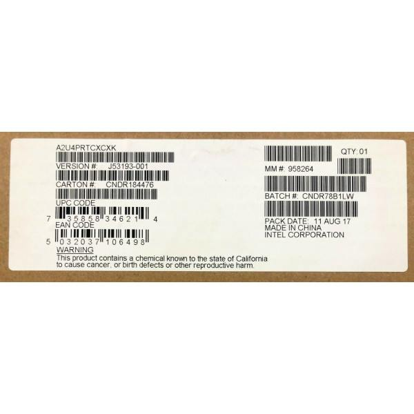 Intel A2U4PRTCXCXK Cable Kit OCuLink* 2U 4 Port Retimer New Bulk Packaging