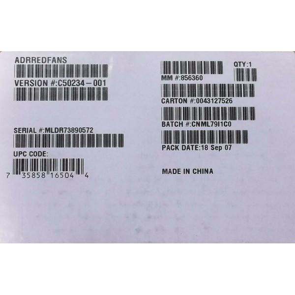 Intel ADRREDFANS SR2400 Spare Redundant Fan Kit (4) Fans New Bulk Packaging