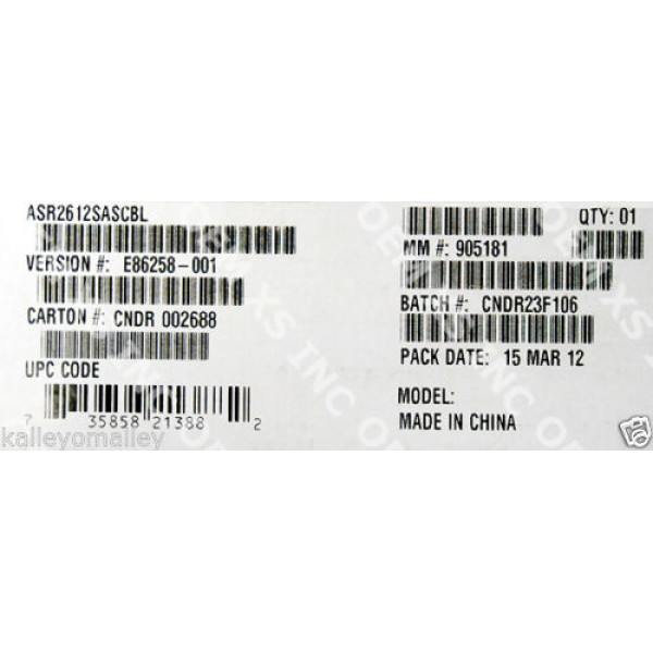 Intel ASR2612SASCBL Mini SAS Cable Accessory Kit New Bulk Packaging