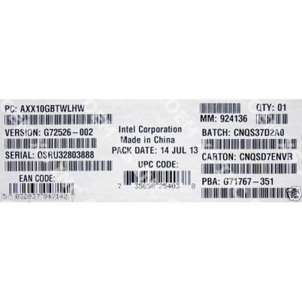 Intel AXX10GBTWLHW Dual RJ-45 port 10GBASE-T IO Module New Bulk Packaging