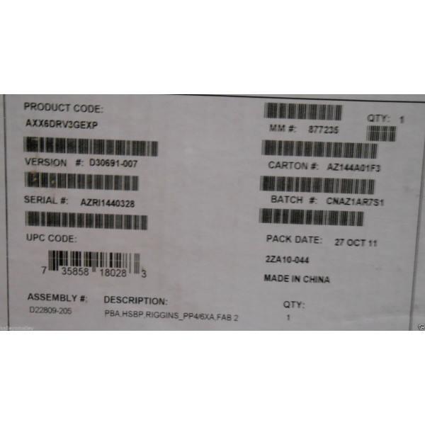 Intel AXX6DRV3GEXP 6-Drive Hot-Swap Expander Kit New Bulk Packaging
