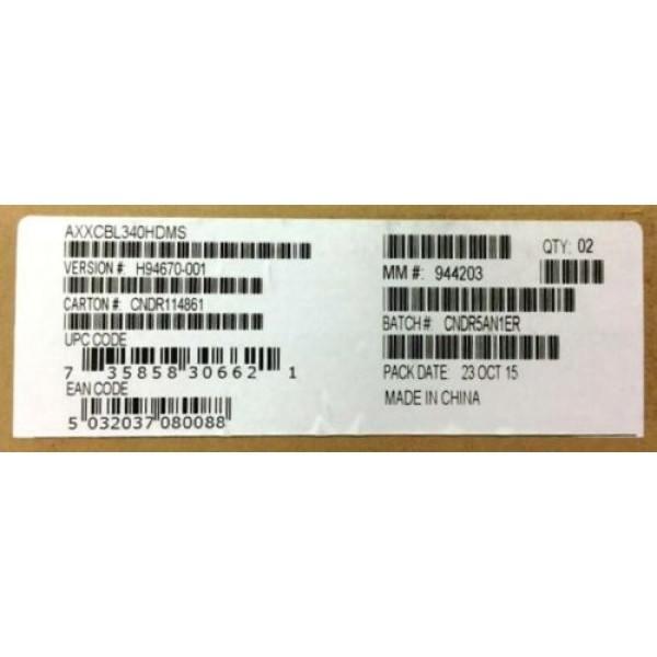 Intel AXXCBL340HDMS Mini-SAS Cable Kit New Bulk Packaging