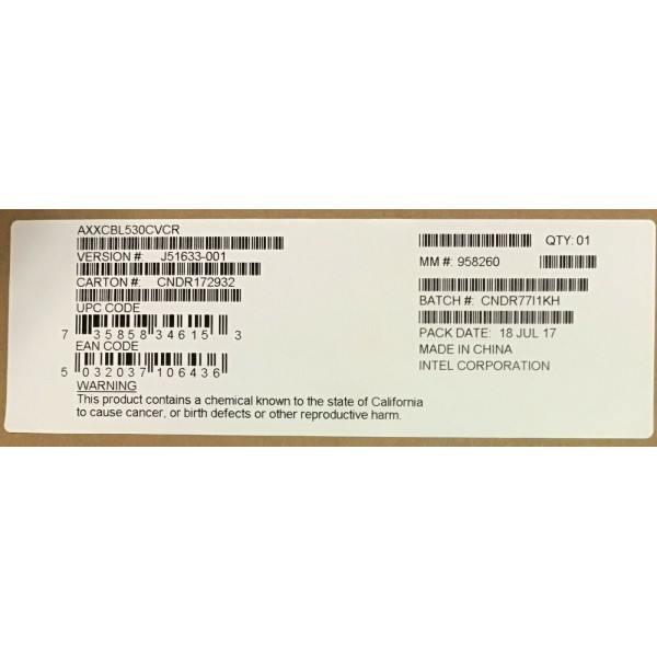Intel AXXCBL530CVCR Oculink Cable Kit New Bulk Packaging