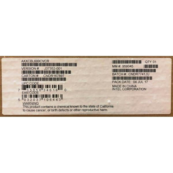 Intel AXXCBL600CVCR Oculink Cable Kit New Bulk Packaging