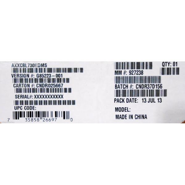 Intel AXXCBL730HDMS Cable Kit New Bulk Packaging
