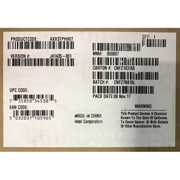Intel AXXSTPHIKIT GPGPU Bracket Kit New Bulk Packaging