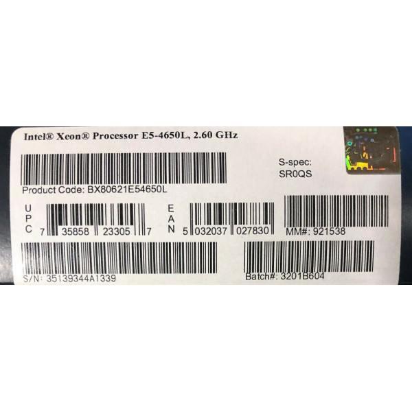 Intel BX80621E54650L SR0QS Xeon E5-4650L 20M Cache, 2.60 GHz, 8.00 GT/s QPI New Retail Box