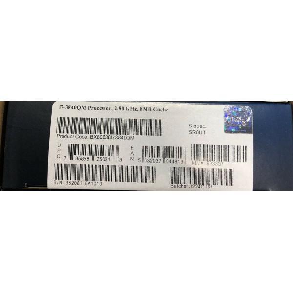 Intel BX80638I73840QM SR0UT Core i7-3840QM Processor 8M Cache, up to 3.80 GHz New Retail Box