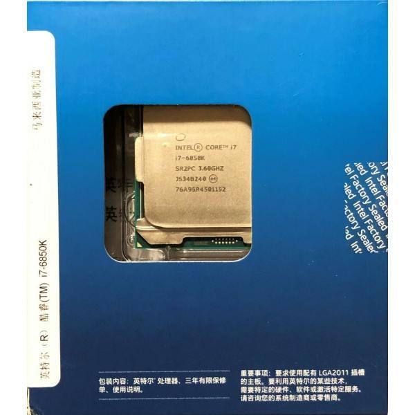 Intel BXC80671I76850K SR2PC Core i7-6850K 15M Cache, 3.80 GHz New Retail Box