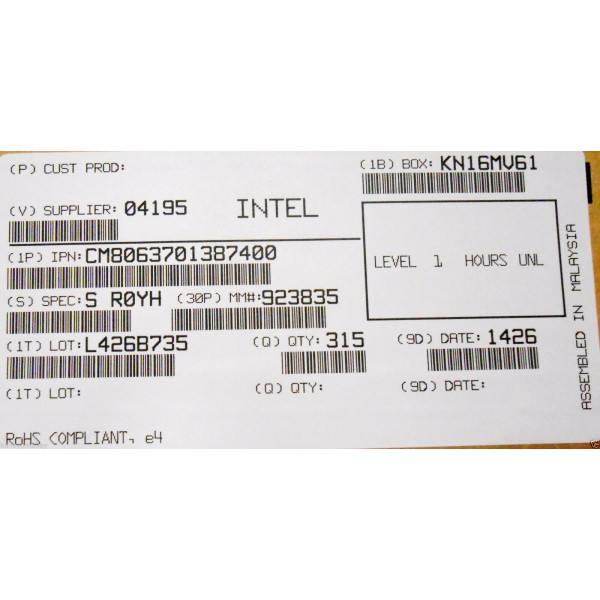 Intel CM8063701387400 SR0YH Core i5-3340S 6M Cache,3.30 GHz New Bulk Packaging