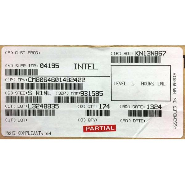 Intel CM8064601482422 SR1NL Core i3-4340 Processor 4M Cache, 3.60 GHz New Bulk Packaging