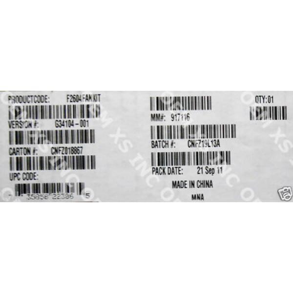 Intel F2604FANKIT Fan Kit (3 Fans) New Bulk Packaging