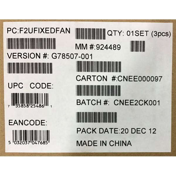 Intel F2UFIXEDFAN System Fan Kit New Bulk Packaging