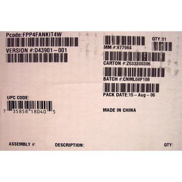 Intel Server Chassis SC5299-E 4 Fan Kit FPP4FANKIT4W New Bulk Packaging
