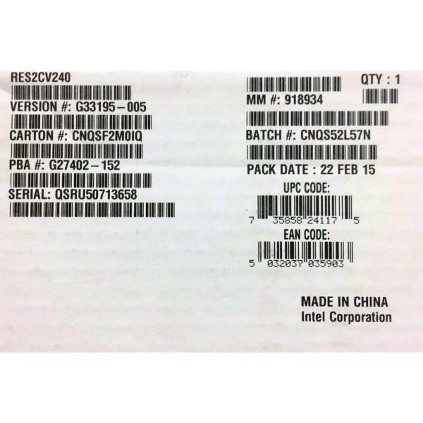 Intel RES2CV240 RAID Expander 24 Port SAS 6Gb Expander Card New Brown Box