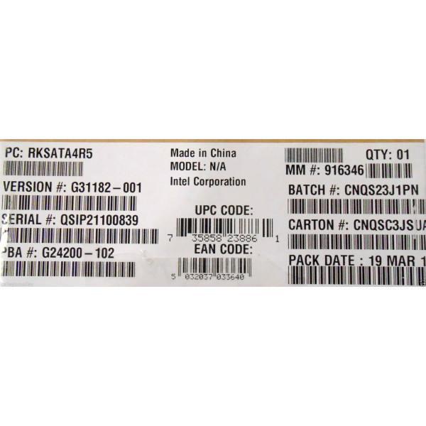 Intel RAID C600 Upgrade Key RKSATA4R5 New Bulk Packaging