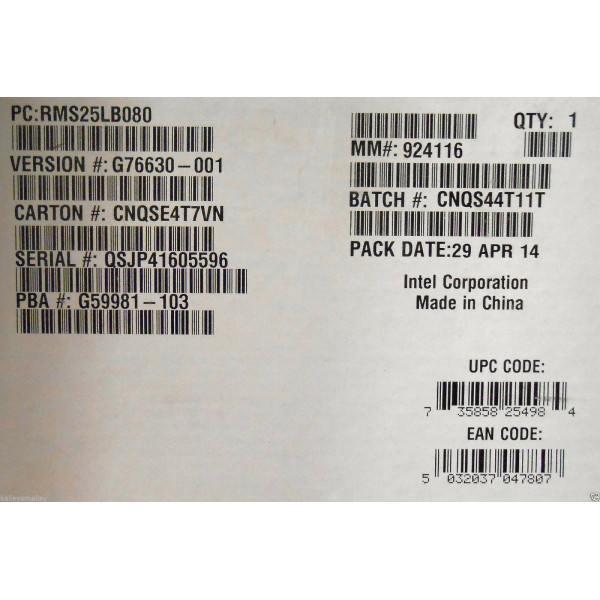 Intel RMS25LB080 6Gb/s SAS Module New Bulk Packaging