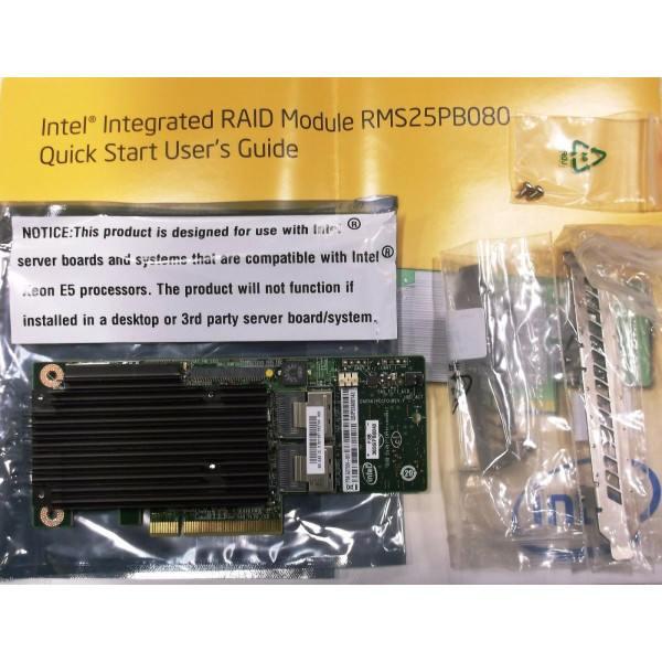 Intel RMS25PB080 Integrated RAID Module SAS/SATA Tested Customer Return