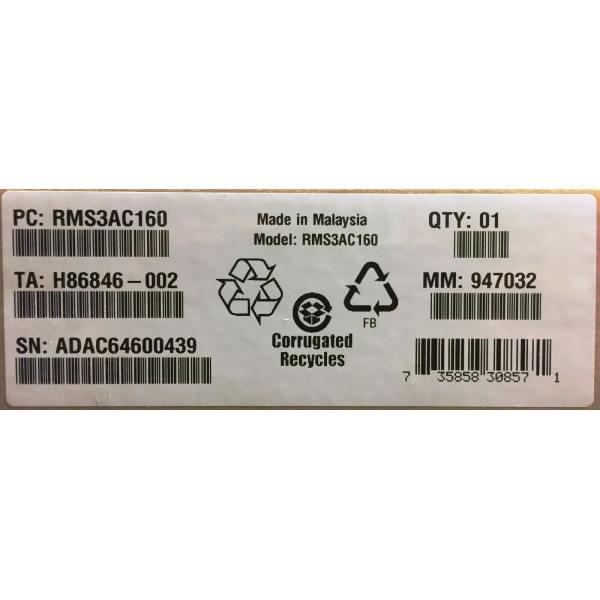Intel RMS3AC160 Integrated RAID Module New Bulk Packaging