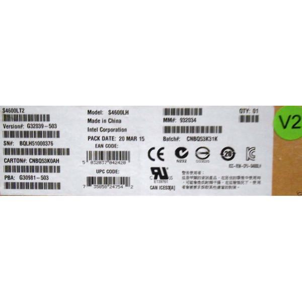 Intel S4600LT2 Server Board 2U Rack, Socket R, DDR3 V2 Technology New Board Only OEMXS# 20916