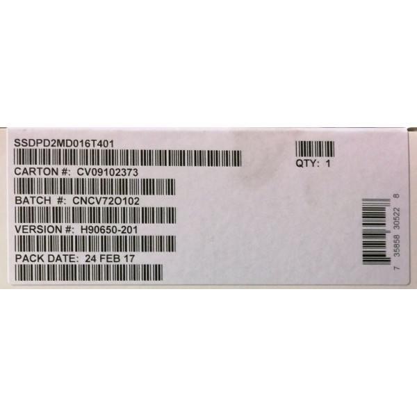 Intel SSDPD2MD016T401 SSD DC D3700 Series 1.6TB, 2.5in PCIe 3.0 2x2, 20nm, MLC New Bulk Packaging OEMXS#91710M