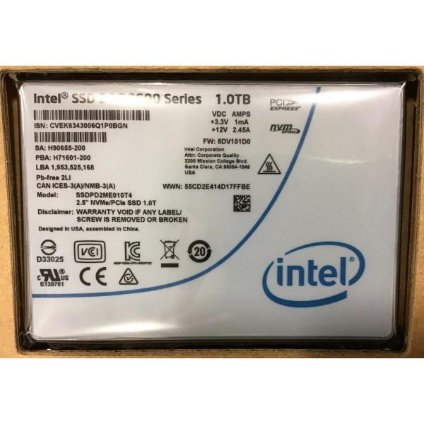 Intel SSDPD2ME010T401 SSD DC D3600 Series 1.0TB, 2.5in PCIe3.0 2x2, 20nm, MLC New Bulk Packaging