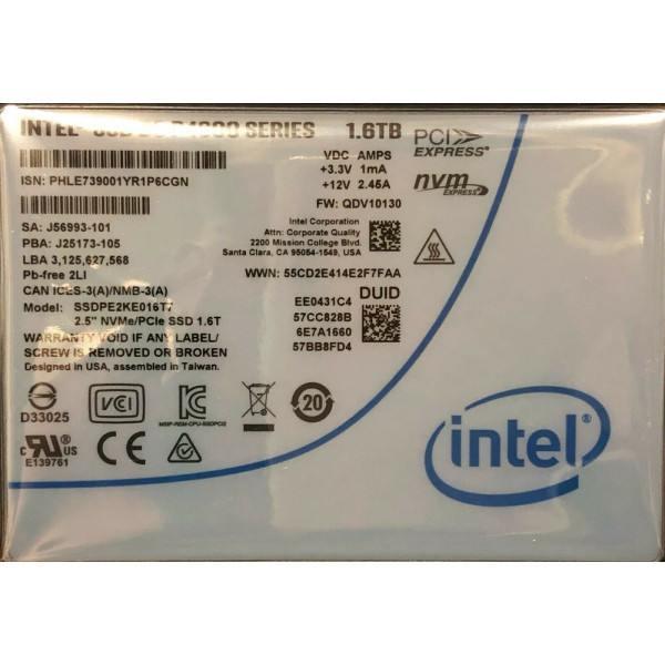 Intel SSDPE2KE016T710 SSD DC P4600 Series 1.6TB, 2.5in PCIe 3.1 x4, 3D1, TLC New Bulk Packaging