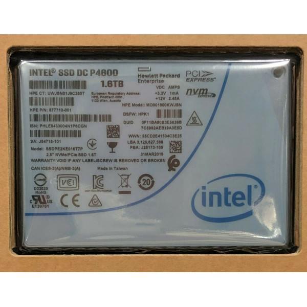 Intel SSDPE2KE016T7P1 SSD DC P4600 Series 1.6TB, 2.5in PCIe 3.1 x4, 3D1, TLC New Bulk Packaging
