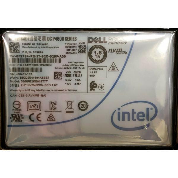 Intel SSDPE2KE016T7TP SSD DC P4600 Series 1.6TB, 2.5in PCIe 3.1 x4, 3D1, TLC New Bulk Packaging