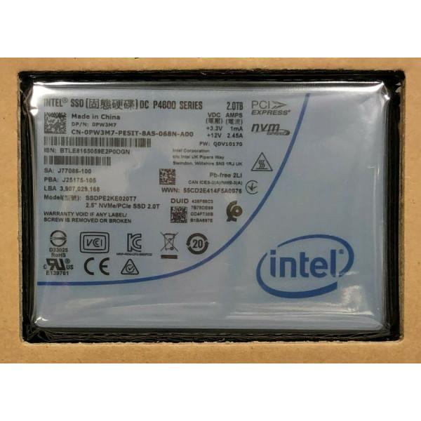 Intel SSDPE2KE020T755 SSD DC P4600 Series 2.0TB, 2.5in PCIe 3.1 x4, 3D1, TLC New Bulk Packaging