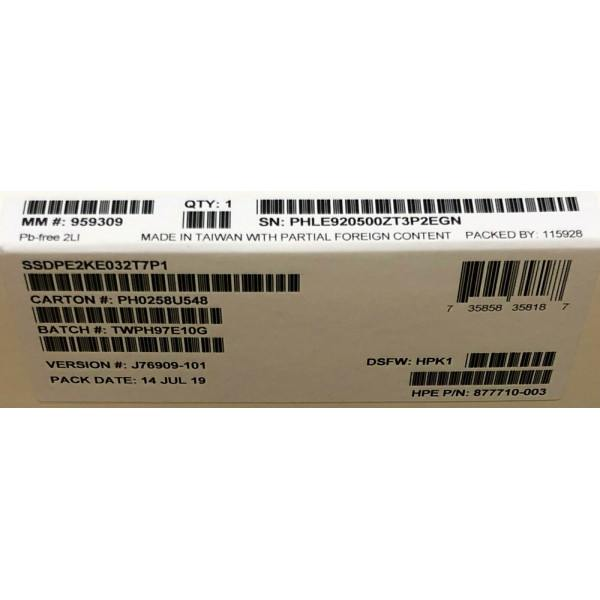 Intel SSDPE2KE032T7P1 SSD DC P4600 Series 3.2TB, 2.5in PCIe 3.1 x4, 3D1, TLC New Bulk Packaging