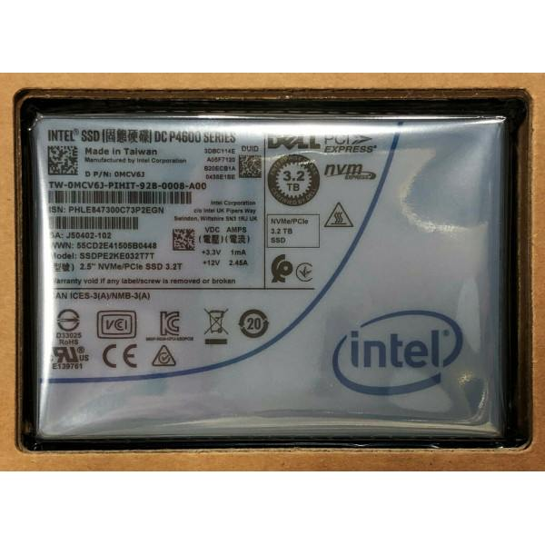 Intel SSDPE2KE032T7T1 SSD DC P4600 Series 3.2TB, 2.5in PCIe 3.1 x4, 3D1, TLC New Bulk Packaging