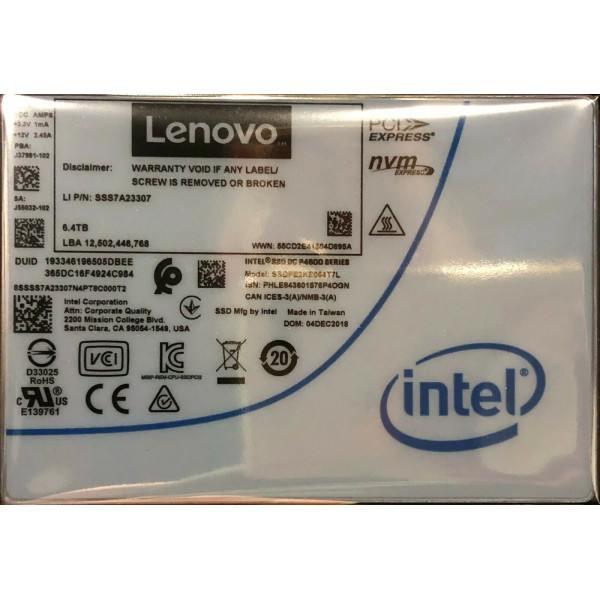 Intel SSDPE2KE064T7LT SSD DC P4600 Series 6.4TB, 2.5in PCIe 3.1 x4, 3D1, TLC New Bulk Packaging