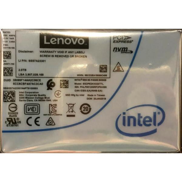 Intel SSDPE2KX020T7L1 SSD DC P4500 Series 2.0TB, 2.5in PCIe 3.1 x4, 3D1, TLC New Bulk Packaging