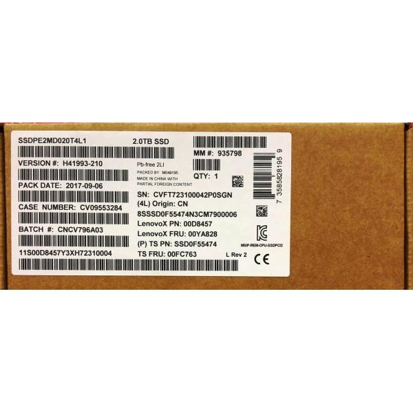 Intel / Lenovo SSDPE2MD020T4L1 SSDPE2MD020T4 SSD0F55474 SSD DC P3700 Series New Bulk Packaging
