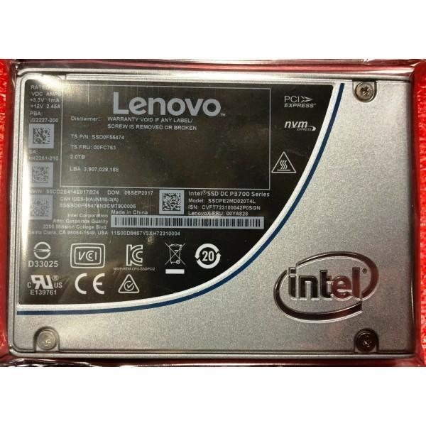 Intel / Lenovo SSDPE2MD020T4L1 SSDPE2MD020T4 SSD0F55474 SSD DC P3700 Series New Bulk Packaging