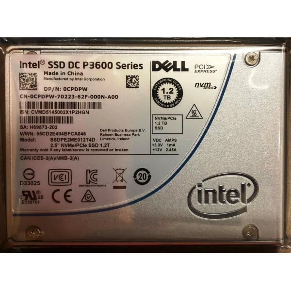 Intel / DELL SSDPE2ME012T4D1 SSDPE2ME012T4 0CPDPW SSD DC P3600 Series 1.2TB New Bulk Packaging