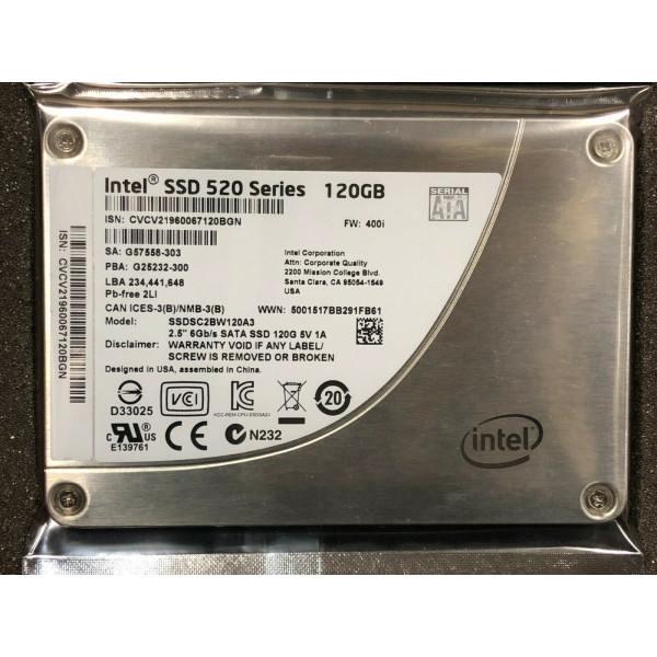 Intel SSDSC2BW120A301 SSD 520 Series 120GB, 2.5in SATA 6Gb/s, 25nm, MLC New System Pull OEMXS#1223204